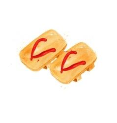 Chinese symbols flip flop vector image