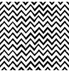 hand drawn black and white chevron repeat pattern vector image vector image