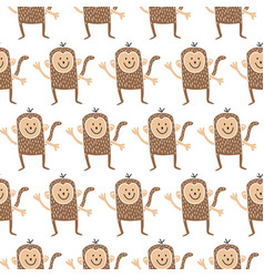 monkey pattern vector image vector image