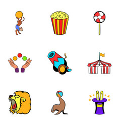 tent icons set cartoon style vector image vector image