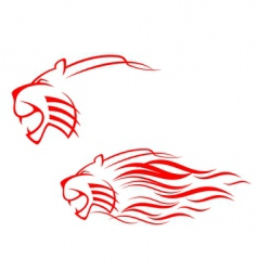 tiger sign vector image