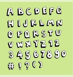 fun doodle sketch alphabet set vector image vector image