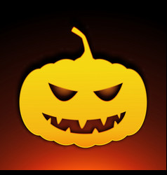 icon halloween pumpkin on black background vector image