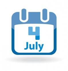 july 4 calendar date vector image