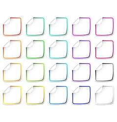 Paper stickers vector