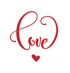phrase love in heart shape vector image