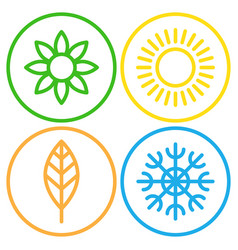 seasons - winter spring summer and autumn vector image