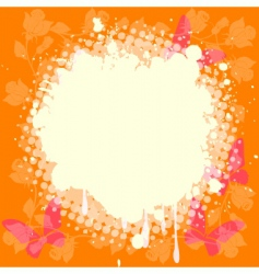 splash on roses and butterflies vector image