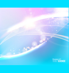 abstract blue lights for science background vector image