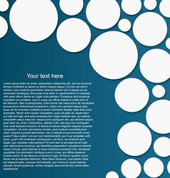 Abstract circle background with drop shadows vector image