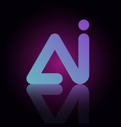 ai logo letter template design vector image