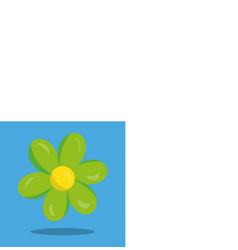 April showers green flower 18 vector