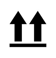 arrows side up icon vector image