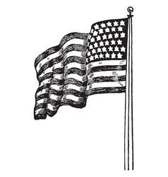 Backwards united states flag vintage vector