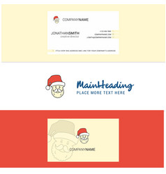 beautiful santa clause logo and business card vector image