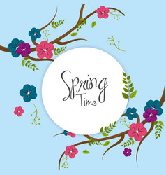 beautiful spring tree icon vector image
