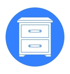Bedside table icon in black style isolated on vector image vector image