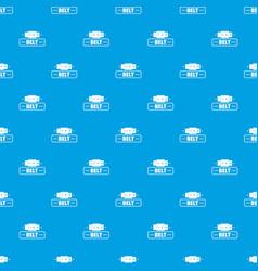 belt fashion pattern seamless blue vector image