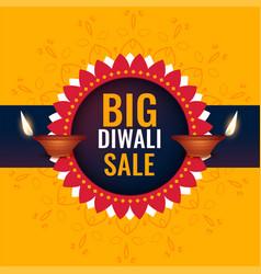 Big diwali sale banner design vector