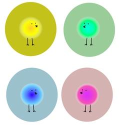 Birds in circles 1 vector