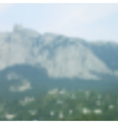 Blurred mountain landscape vector