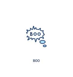 Boo concept 2 colored icon simple line element vector