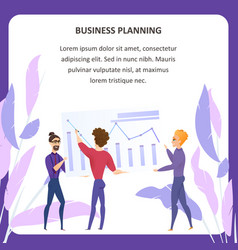 business planning analysis tablet banner vector image