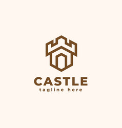 castle logo concept tower good to use vector image