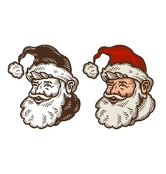 Christmas symbol Portrait of funny Santa Claus vector image