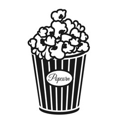 cinema popcorn box icon simple style vector image