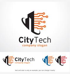 City tech logo template design vector