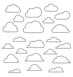 Cloud line icon vector