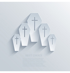 Coffin background Eps10 vector
