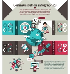 Communication Infographics Set vector image vector image