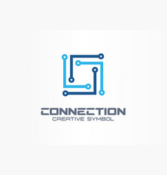 Connect creative symbol concept community network vector