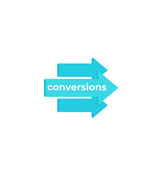 Conversions icon with arrows vector