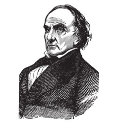 Daniel webster vintage vector