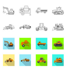 design of build and construction logo set vector image
