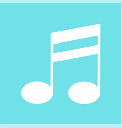Double bar music note icon flat style vector
