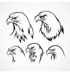 Eagle badge template Silhouette vector image