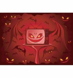 evil tv vector image