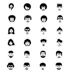 Faces Icons 1 vector