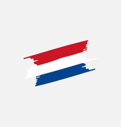flag netherlands brush vector image