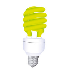 Fluorescent light bulb icon design vector