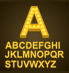 Font bulbs art sign abc vector