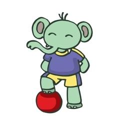 Football elephant funny design cartoon vector