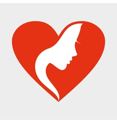 Girl heart vector