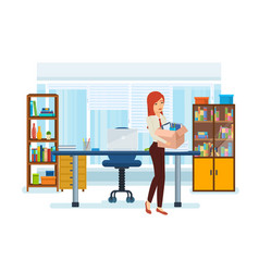 girl in office clothes office building vector image