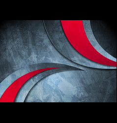 grunge wavy corporate red and blue background vector image