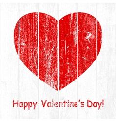 Grunge Wooden Valentine vector image
